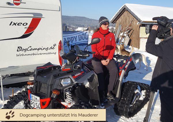 Dogcamping unterstützt Iris Mauderer